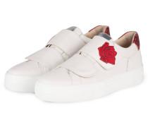 Plateau-Sneaker - creme/ rot