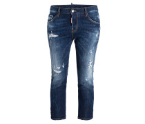Cropped-Jeans COOL GIRL SCRATCH