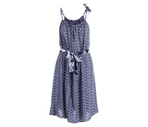 Strandkleid SHADOWS - navy/ weiss