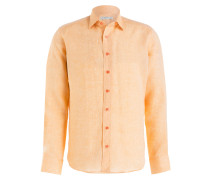Leinenhemd Regular-Fit - lachs