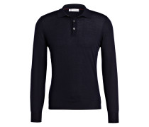 Poloshirt mit Cashmere-Anteil - marine