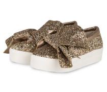 Plateau-Sneaker - gold
