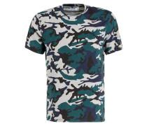 T-Shirt - grün/ grau/ blau