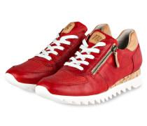 Sneaker - rot/ beige
