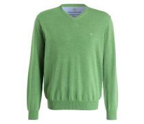 Feinstrickpullover - hellgrün