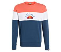 Sweatshirt - blaugrau/ weiss/ koralle