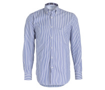 Hemd Regular-Fit - weiss/ blau gestreift