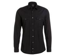 Hemd Slim-Fit - schwarz