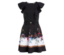 Kleid - schwarz/ weiss