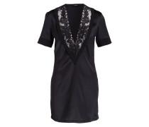 Seiden-Nachthemd AZALEA - schwarz