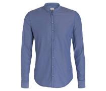 Hemd RENÉ Slim-Fit mit Stehkragen - blau
