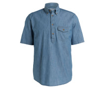 Halbarm-Hemd Regular-Fit - blau