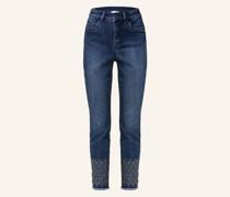 Jeans mit Schmucksteinbesatz