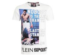 T-Shirt NOBODY - weiss/ blau/ schwarz