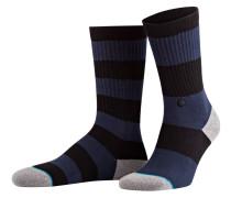 Socken CADET - schwarz/ blau gestreift