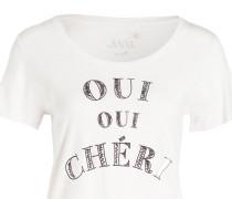 T-Shirt - weiss meliert