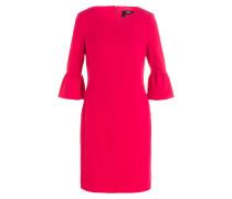 Kleid mit Volant - pink