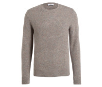 Strickpullover - taupe/ mint meliert