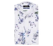 Hemd Tailored-Fit - weiss/ blau