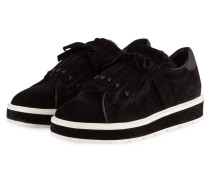 Sneaker COOL mit Fellbesatz - schwarz