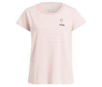 T-Shirt SAVENA - lachs/ weiss/ silber