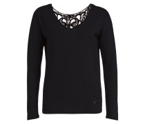 Shirt MILA mit 3/4-Arm - schwarz
