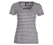 T-Shirt mit Seidenanteil - blau