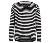Pullover - schwarz/ weiss gestreift