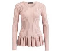 Pullover mit Schösschen - rosa