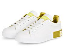 Sneaker PORTOFINO - WEISS/ GELB