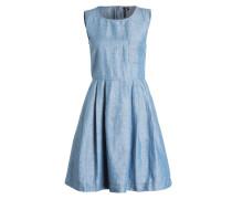 Kleid mit Leinenanteil - blau