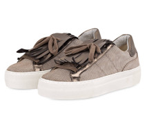 Plateau-Sneaker - braun / gold metallic