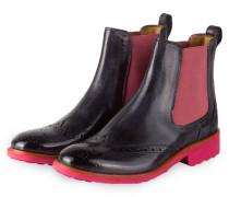 Chelsea-Boots AMELIE5 - indigo/ rosa