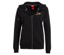 Sweatjacke RALLY METALLIC - schwarz