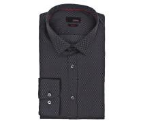 Hemd CISTUART Slim-Fit - schwarz/ grau