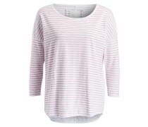 Shirt - weiss/ rosé gestreift