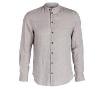 Leinenhemd Regular-Fit mit Stehkragen