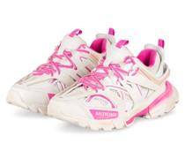 Plateau-Sneaker TRACK - WEISS/ PINK