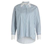 Bluse - blaugrau/ weiss gestreift
