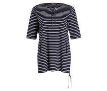 Jerseykleid OBLO - marine/ weiss gestreift