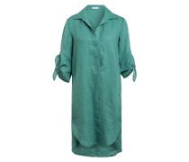 Hemdblusenkleid aus Leinen mit 3/4-Arm