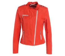 Bikerjacke - orangerot