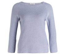 Pullover - blau/ weiss