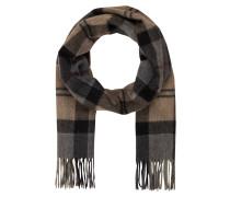 Cashmere-Schal - grau/ braun