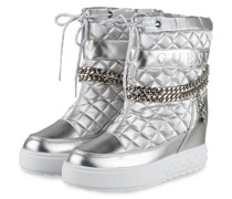 Plateau-Boots - SILBER