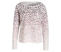 Sweatshirt - weiss/ lila