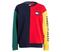 Sweatshirt - blau/ rot/ grün