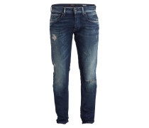 Destroyed-Jeans GROVER Straight-Fit - blau
