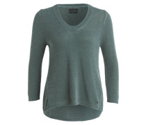 Pullover mit 3/4-Arm - petrol