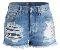 Jeans-Shorts - bright blue